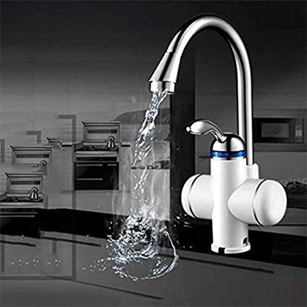 Instant Water Heater Tap – White Color & Energy Saving