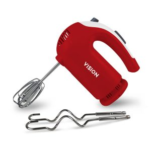 VISION Electric Hand Mixer-VIS-HM-003 Red