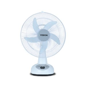 VISION Rechargeable Table Fan 14'' White USB Charger